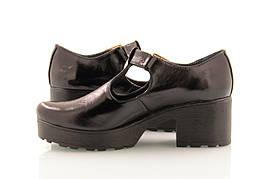 Женские туфли от производителя лакированные на широком каблуке 38