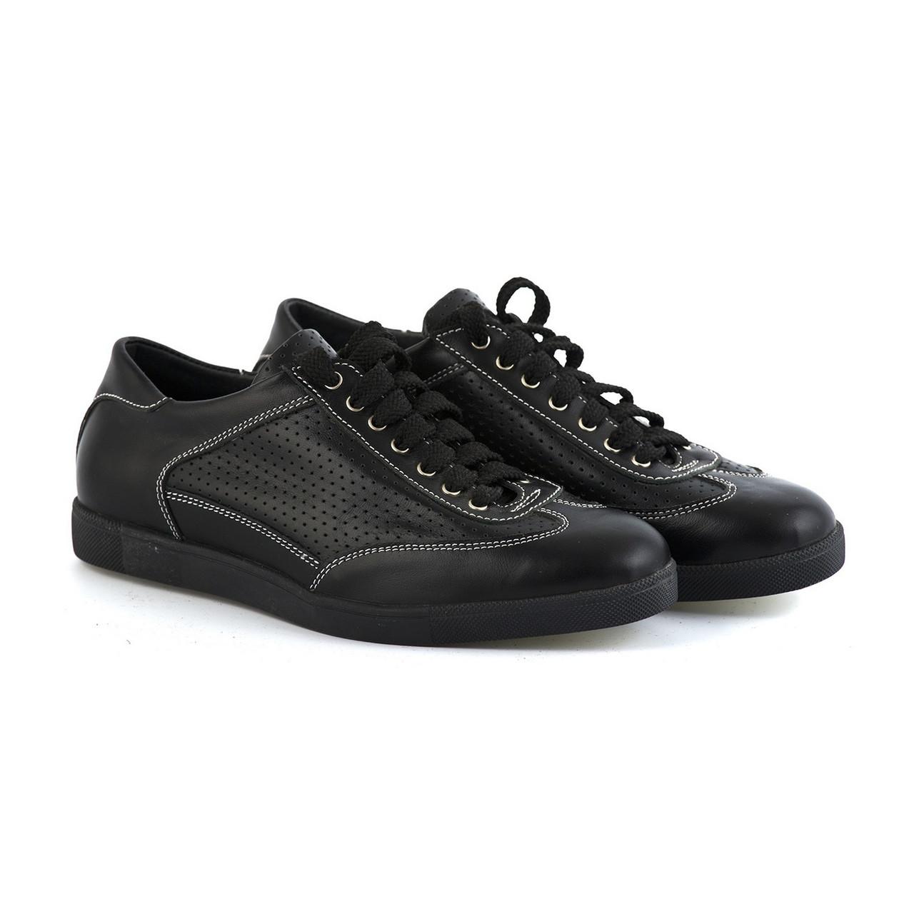 Кожаные туфли на шнуровке черные 36 размер