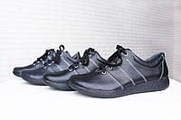 Черные кожаные кроссовки 37 размер, фото 1