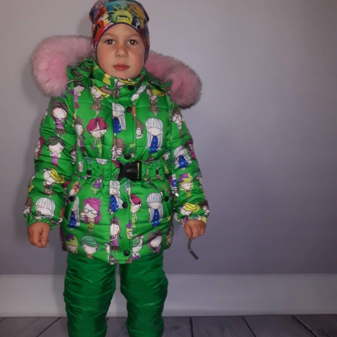 Зимний термокомплект - костюм для девочки