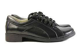 Черные женские туфли на маленьком каблучке 38 размер