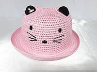 Капелюх, шляпа, панамка -котик бледно розовый
