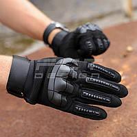 Перчатки Тактические Каучук защитные черные, фото 1