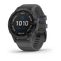 Смарт часы Garmin Fenix 6 Pro Solar, Black w/ Slate Band, фото 1