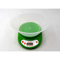 Кухонные электронный весы с чашей до 5 кг DT-02 Зелёные