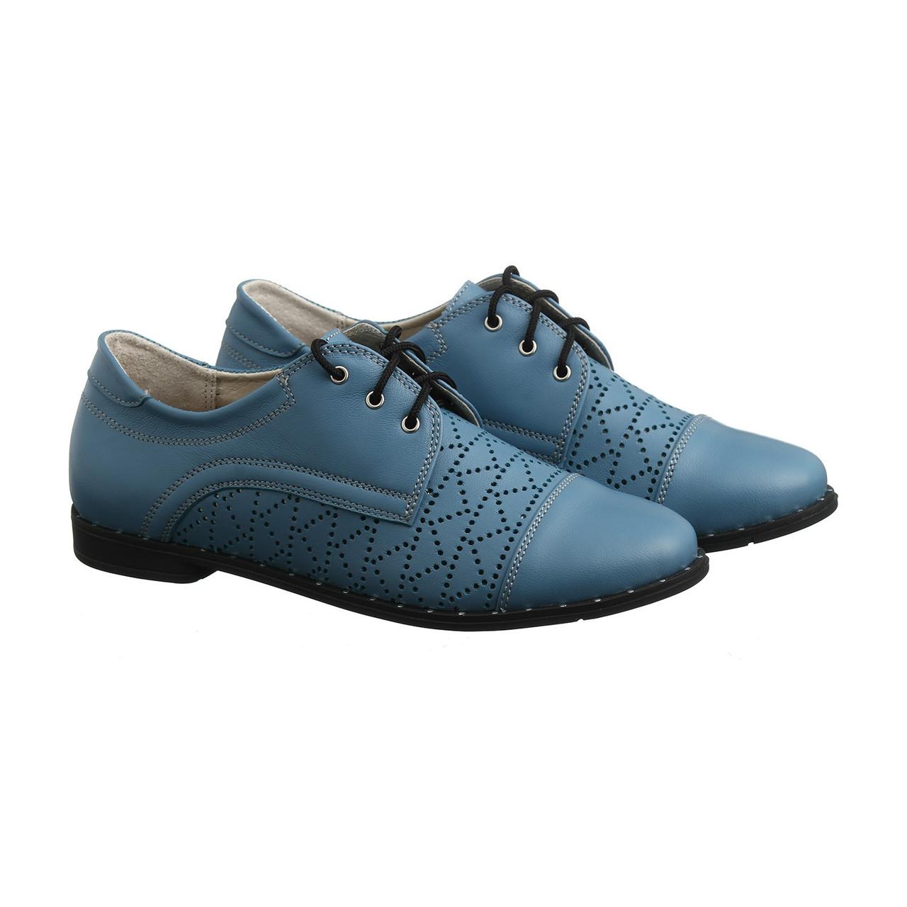 VM-Villomi Голубые туфли размер из кожи с перфорацией