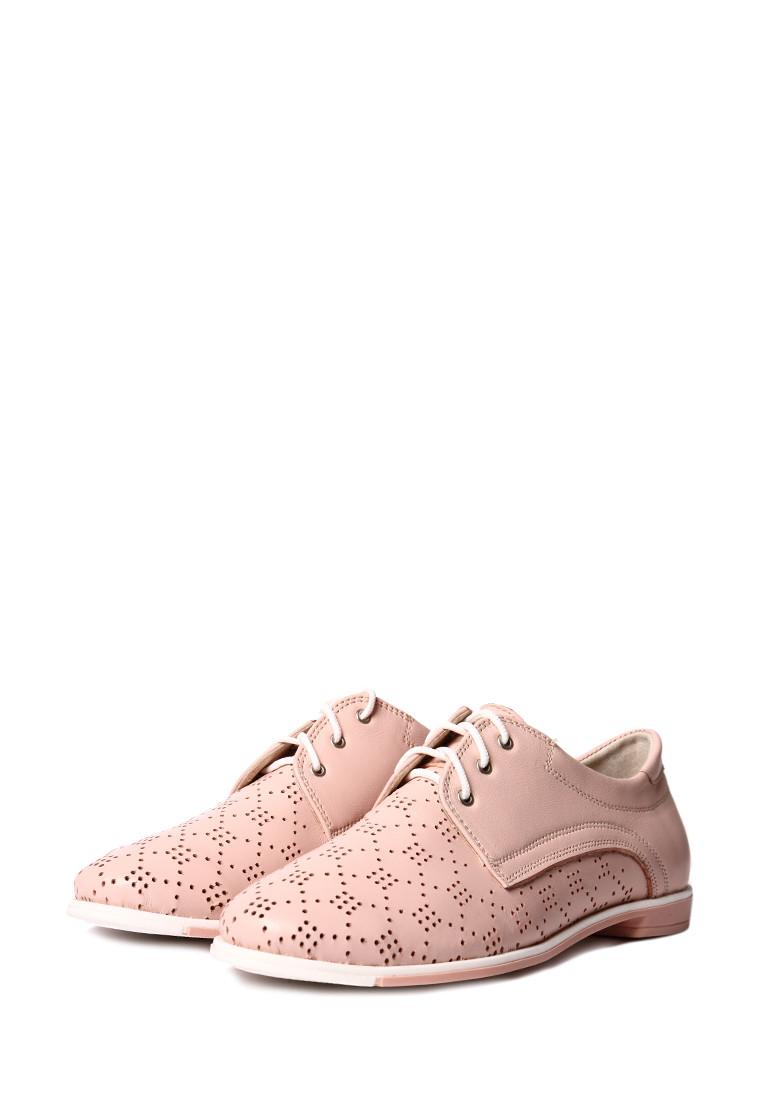 Женские туфли на шнуровке с перфорацией