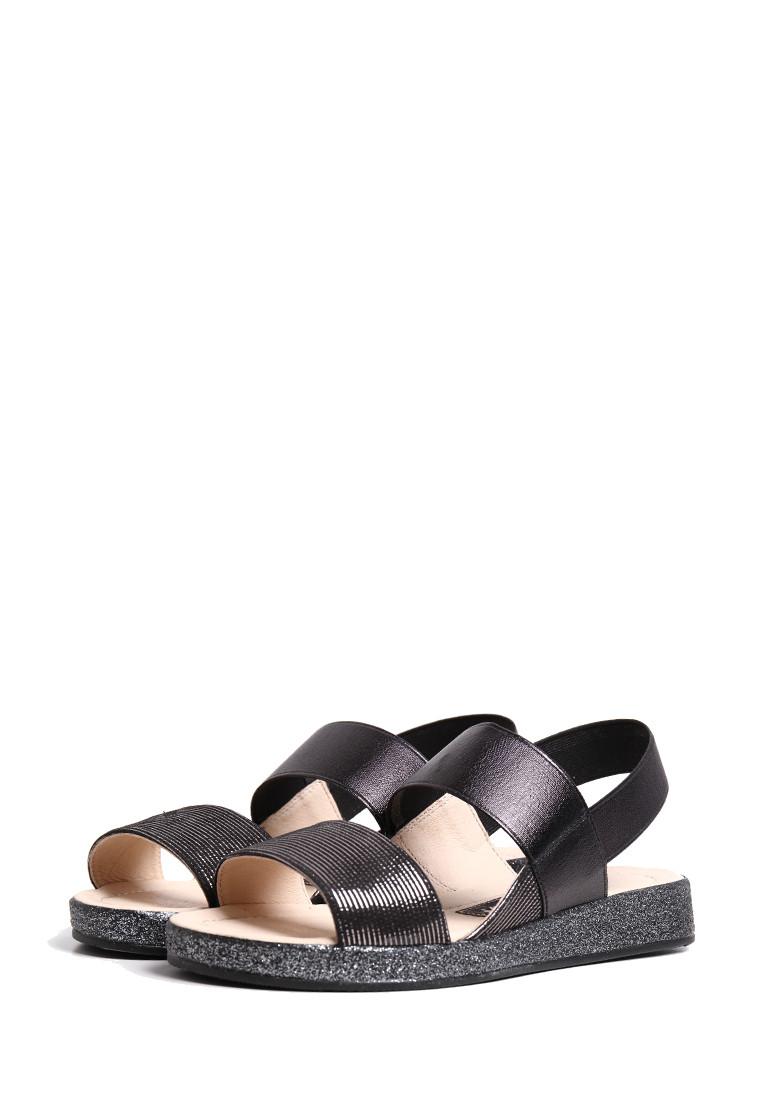 Черные кожаные женские сандалии 37 размер