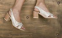 Женские босоножки с открытым носком на каблуке  38 , 40, фото 1