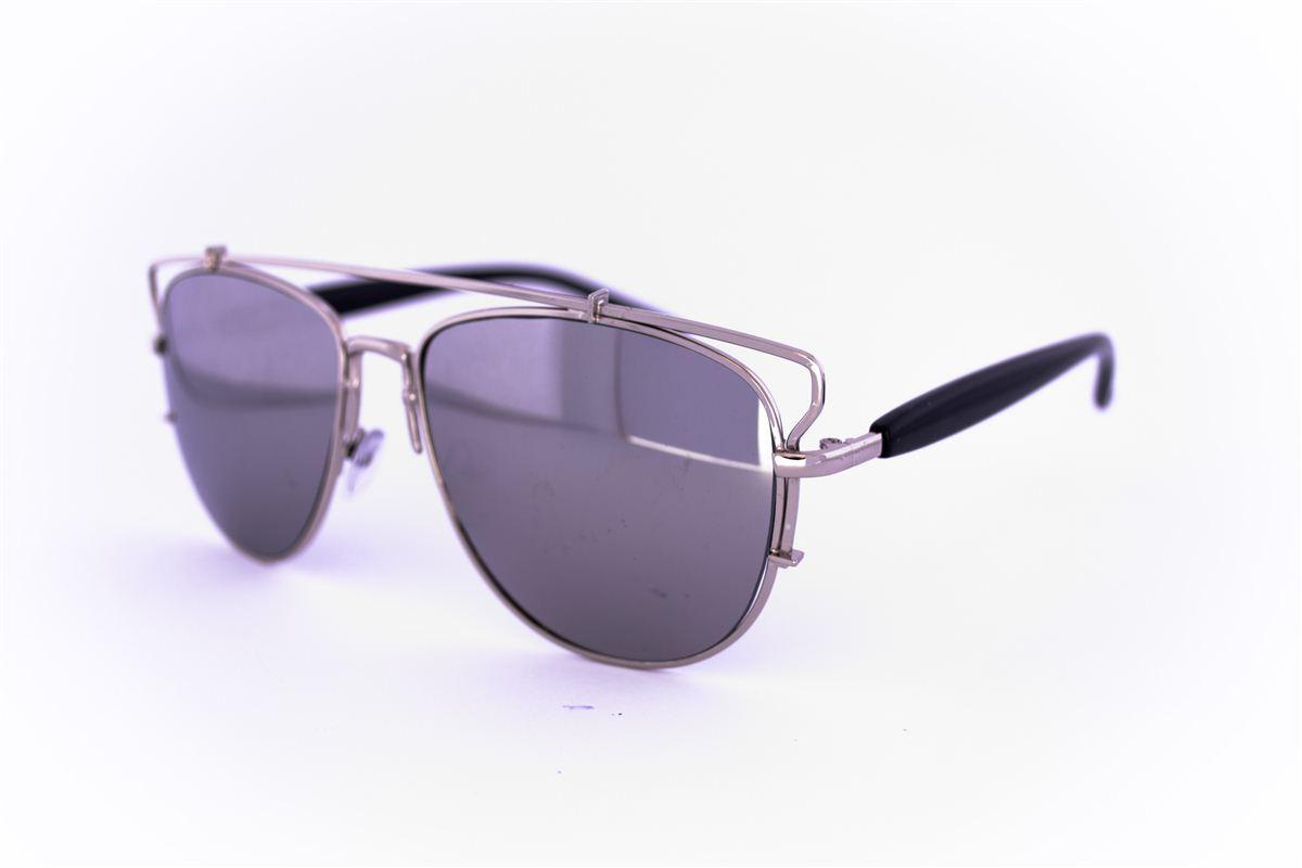 Солнцезащитные зеркальные очки унисекс Авиатор - Стальные - 955