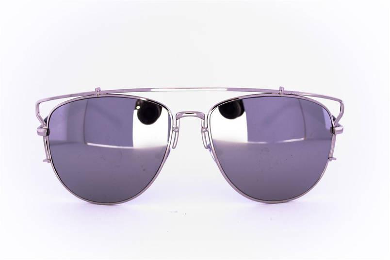Солнцезащитные зеркальные очки унисекс Авиатор - Стальные - 955, фото 2