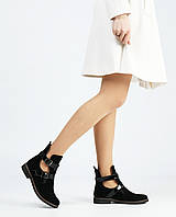 Замшеві жіночі черевики низький хід, фото 1