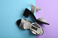 Босоножки на широком каблуке натуральная кожа, фото 1