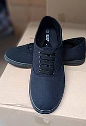 Мокасины мужские джинсовые  на шнурках Крок оптом