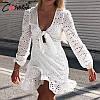 Бавовняні літні сукні з зав'язкою на грудях. Розміри: S, M, L (9065), фото 4