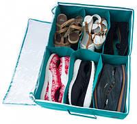 Органайзер для обуви на 6 пар (лазурный)