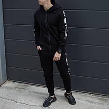 Спортивный мужской костюм черный Off White (Офф Вайт) L