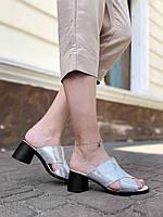 Сабо женские натуральная кожа, женские босоножки на каблуке