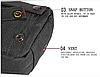 Сумка тактическая A30 / Сумка через плече (16 х 21 х 8 см), фото 5