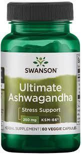 Ашвагандха, Swanson ultimate ashwagandha 250 mg 60 capsules