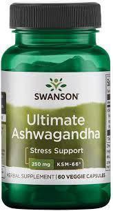 Ашвагандха, Swanson ultimate ashwagandha 250 mg 60 capsules, фото 2