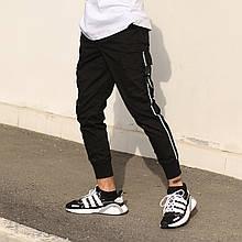 Штаны карго мужские черные бренд ТУР модель Фуджин