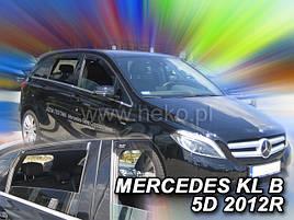 Дефлекторы окон (ветровики)  Mercedes B-klasse W-246 2011 -> 5D 4шт (Heko)