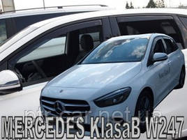 Дефлекторы окон (ветровики)  Mercedes B-klasse W-247 2018 -> 4D 4шт (Heko)