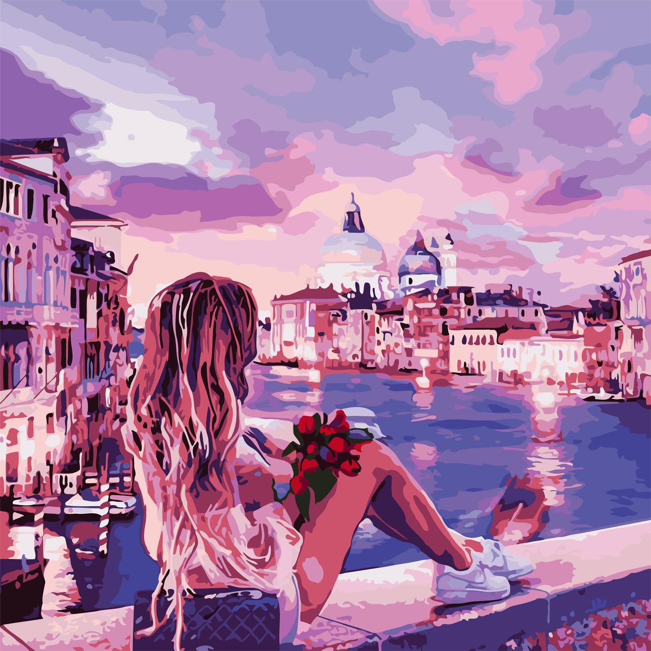 Картины по номерам - Вечер в Венеции 40*40см. + ЛАК