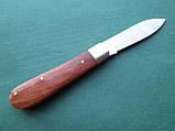 Нержавеющий складной нож с деревянной ручкой, фото 2