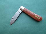 Нержавеющий складной нож с деревянной ручкой, фото 3