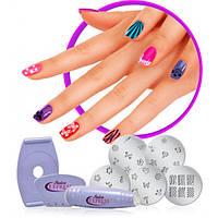 Маникюрный набор для узоров на ногтях Салон Экспресс   Cтемпинг для маникюра Salon Express
