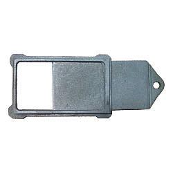 Шибер (заслінка, засувка) чавунний 220х260