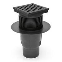 Двухкорпусный уличный трап MCH 827 S вертикальный выпуск решетка пластик 150*150 мм