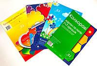 """Набор цветной бумаги и цветного картона """"7+7"""" А4 ТЕТРАДА, (верхнее крепление - скоба),(25шт/уп)"""