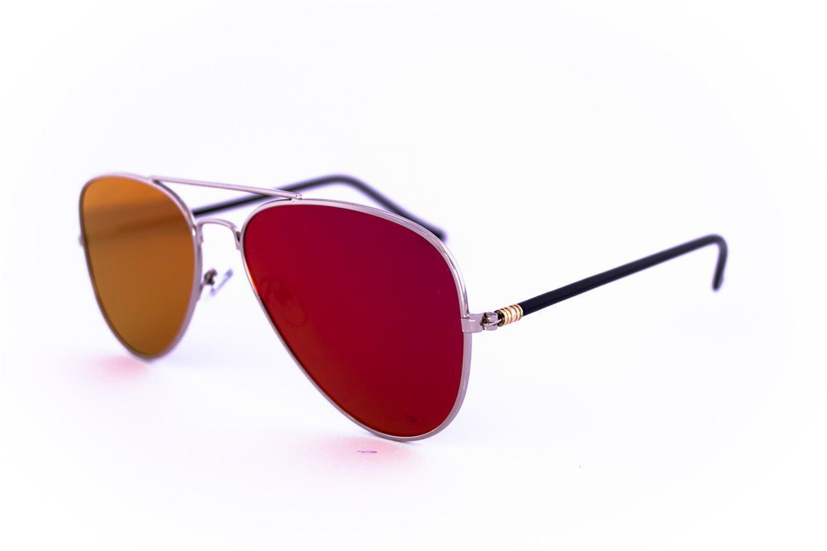 Солнцезащитные зеркальные очки унисекс Авиатор - Стальные - 2206