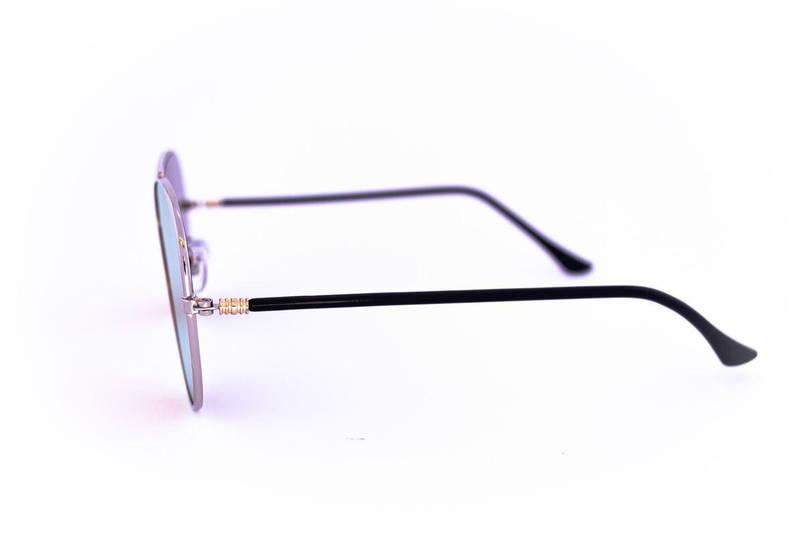 Солнцезащитные зеркальные очки унисекс Авиатор - Стальные - 2206, фото 2