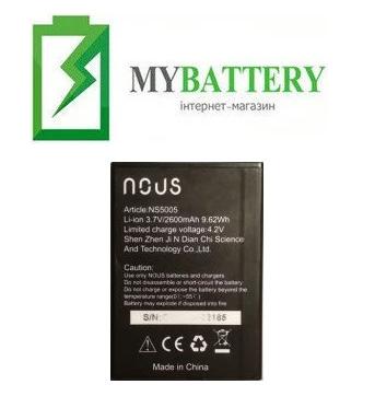 Оригинальный аккумулятор АКБ (Батарея) для Nous NS 5005 3.7V 2600mAh