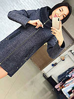 Женское кашемировое пальто с капюшоном  Размер: 42,44,46,48,50.