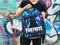 Городской рюкзак Антивор Fortnite (черно-синий) 1264