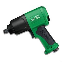Пневмо гайковерт TOPTUL 1/2 для СТО шиномонтажа гаража автосервиса 1356N/m 9500об/мин композитный KAAC1610