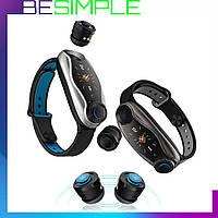 Фитнес-браслет с беспроводными наушниками Smart TWS T90