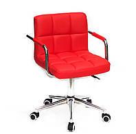 Кресло для мастера, офиса Arno ARM ЭКО MOD, красный