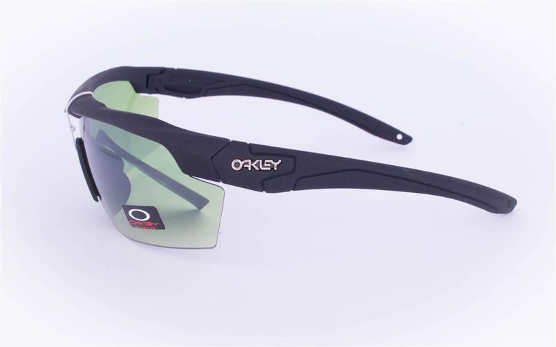 Тактические брендовые очки-маска Oakley - Черные - 7931, фото 2
