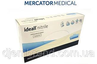 Перчатки Нитриловые Mercator Medical Ideall nitrile, размер L, 100 шт. синие