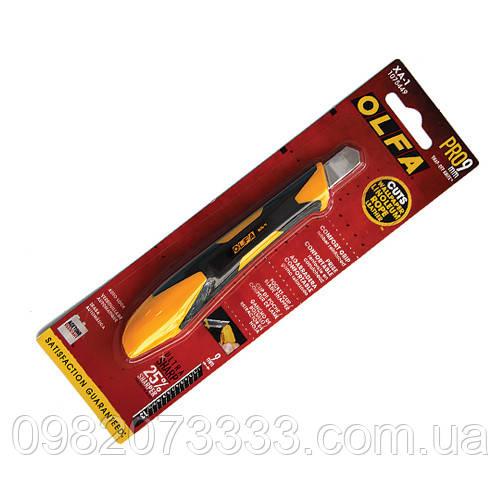 Нож Olfa пластиковый (14см). Имеет сердцевину из высококачественной нержавеющей стали и корпус из пластика