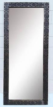 Зеркало напольное этно 190х80х4см, состаренное дерево, резьба.