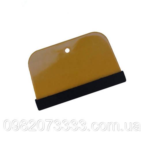 Выгонка Бондо с фетром (размер: 135х75мм) применяемых для разглаживания и отжима воды из-под плёнок