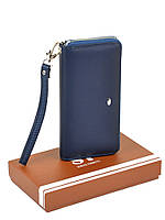 Женский кошелек-сумочка W38 dark-blue