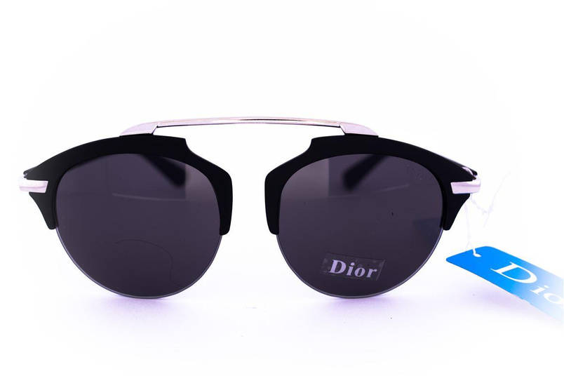 Модные солнцезащитные очки Dior Clubmaster - Черные - 8013, фото 2